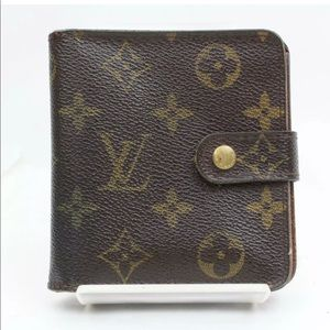 Louis Vuitton Wallet Compact Zip Browns Monogram